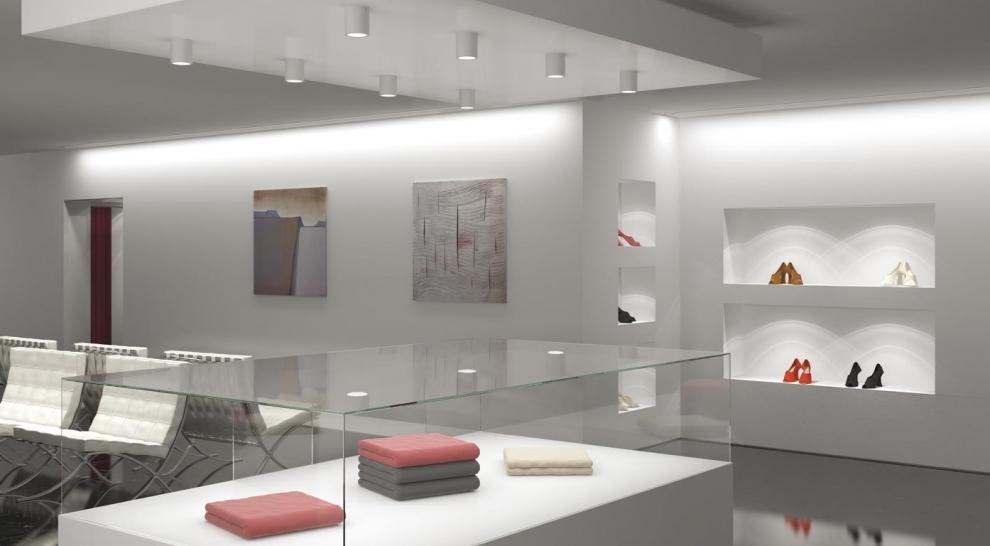 Illuminazione per negozi le lampade che favoriscono l for Illuminazione interni casa