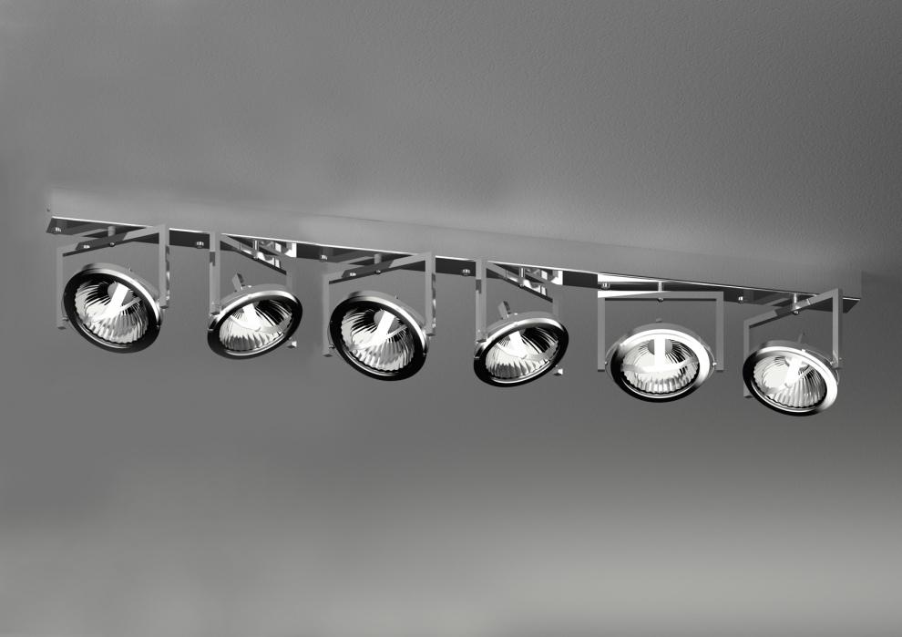 Diapson led spot 6 luci parete/soffitto